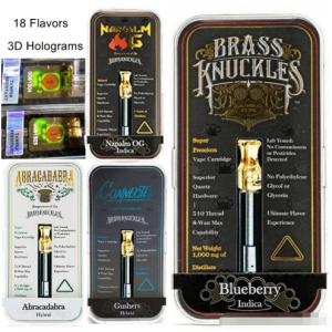 Brass Knuckles Cartridge empty vape cartridges with carts packaging