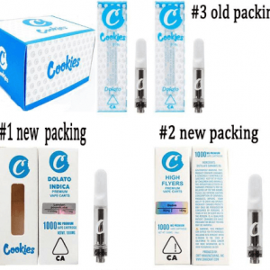 cookies empty vape cartridges with carts packaging of pvc box