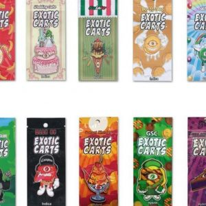 exotic carts packaging bags and box