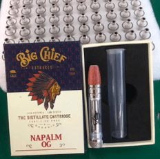 big chief empty vape cartridges with carts packaging