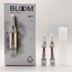 bloom cartridges empty with carts packaging