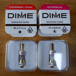 DIME cartridges empty with carts packaging