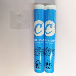 cookies preroll joint tube packaging for weed with Heat shrinkable plastic film and hologram label